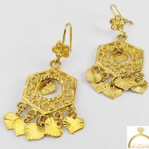 گوشواره طرح طلا ۹۰۱۰۱۸