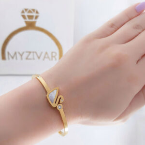 دستبند النگویی استیل اسپورت طرح طلا کد 13014