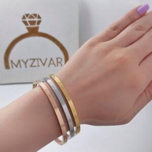 دستبند النگویی طرح طلا مدل کارتیر کد ۱۳۰۱2