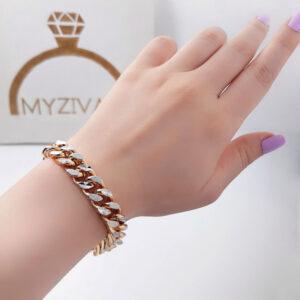 دستبند زنجیری طرح طلا برند ژوپینگ کد ۱۳۰۲3