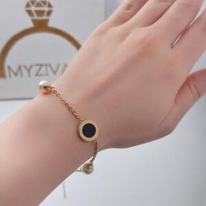 دستبند زنجیری طرح طلا مدل بولگاری کد ۱۳۰۱3