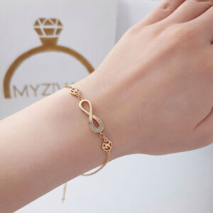 دستبند زنجیری طرح طلا برند ژوپینگ کد ۱۳۰۲2