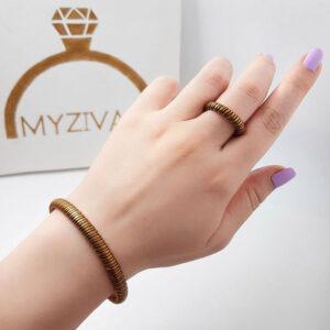 ست دستبند و انگشتر جنس مسی کد ۳۰۰2