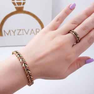 ست دستبند و انگشتر جنس مسی کد ۳۰۰3