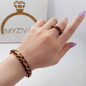ست دستبند و انگشتر جنس مسی کد ۳۰۰4