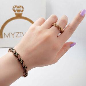 ست دستبند و انگشتر جنس مسی کد ۳۰۰5