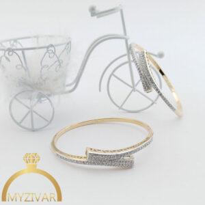 دستبند النگویی طرح طلا مارک ژوپینگ کد ۱۳۰11