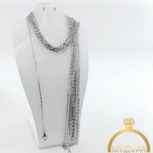 زنجیر گردنی استیل طرح طلا کد ۱۴۰۱1