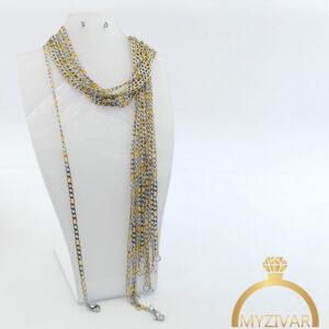 زنجیر گردنی استیل طرح طلا کد ۱۴۰10