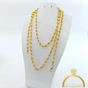 زنجیر گردنی استیل طرح طلا کد ۱۴۰۱2