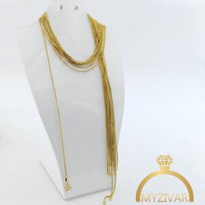 زنجیر گردنی استیل طرح طلا کد ۱۴۰۰6