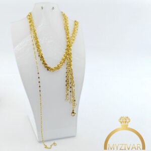 زنجیر گردنی استیل طرح طلا کد ۱۴۰۰9