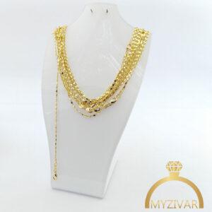زنجیر گردنی استیل طرح طلا کد ۱۴۰۰7