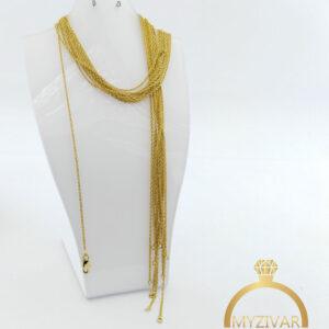 زنجیر گردنی استیل طرح طلا کد ۱۴۰۰4
