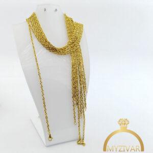 زنجیر گردنی استیل طرح طلا کد 14001
