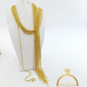زنجیر گردنی استیل طرح طلا کد ۱۴۰۰2