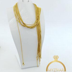 زنجیر گردنی استیل طرح طلا کد ۱۴۰۰3