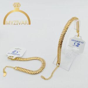 دستبند زنانه طرح طلا برند ZJ کد ۱۳۰21