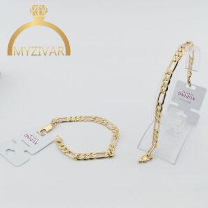 دستبند زنجیری طرح طلا برند ژوپینگ کد ۱۳۰۲4