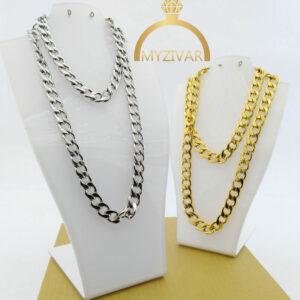 زنجیر گردنی استیل طرح طلا کد ۷۰۲5