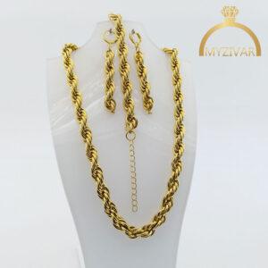 سرویس طنابی استیل طرح طلا کد ۱۲۰20