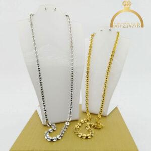 زنجیر گردنی استیل طرح طلا کد ۷۰۲4
