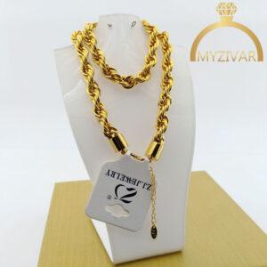 زنجیر گردنی طنابی طرح طلا مارک ZJ کد ۷۰20