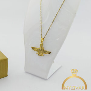گردنبند استیل طرح طلا مدل فروهر کد ۷۰۴3