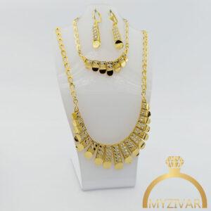 سرویس زنانه تراشدار طرح طلا کد ۱۲۰۱6