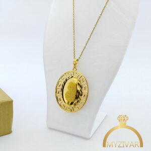 گردنبند استیل شمایل طرح طلا کد ۷۰40