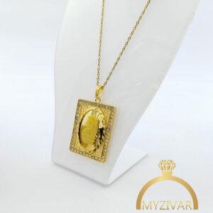 گردنبند استیل شمایل طرح طلا کد ۷۰۳9