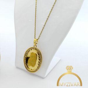 گردنبند استیل شمایل طرح طلا کد ۷۰۳8