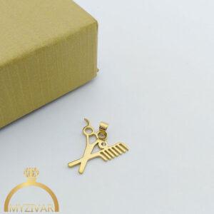 مدال استیل طرح طلا و رنگ ثابت کد ۷۰۴7