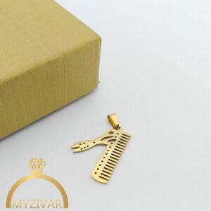 مدال استیل طرح طلا و رنگ ثابت کد ۷۰۴8