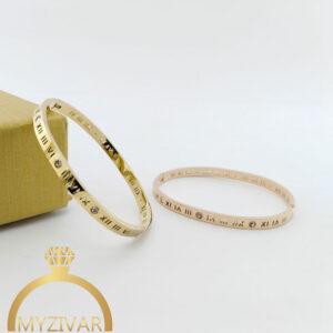 دستبند النگویی نگیندار اسپورت و طرح طلا کد ۱۳۰۳6