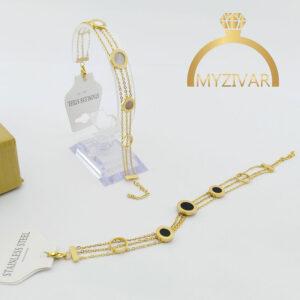 دستبند زنجیری بولگاری طرح طلا و اسپورت کد ۱۳۰۳9