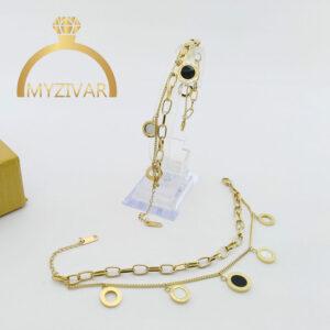 دستبند آویزدار بولگاری طرح طلا و اسپورت کد ۱۳۰40