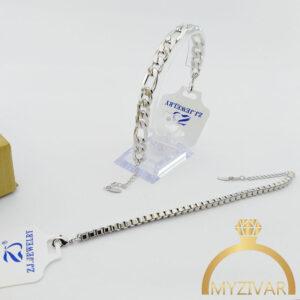دستبند استیل طرح طلا و اسپورت مارک ZJ کد ۱۳۰۳1