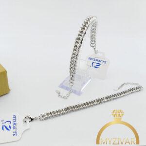 دستبند استیل کارتیر طرح طلا و اسپورت کد ۱۳۰30