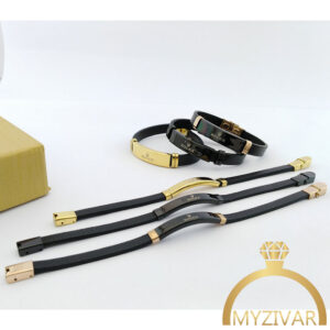 دستبند چرم مردانه مارک ROLEX کد ۱۳۰۲6