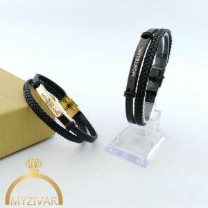 دستبند چرم مردانه مارک مونت بلانک کد ۱۳۰۲5