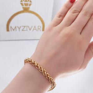 دستبند طنابی طرح طلا مارک ZJ کد 13050