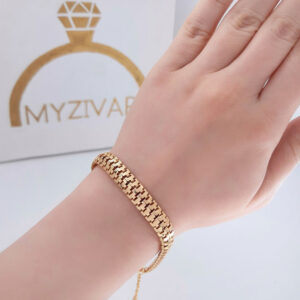 دستبند طرح طلا مارک ZJ کد 13052