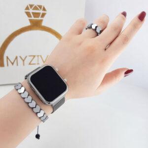 ست ساعت و دستبند رنگ ثابت کد 15006