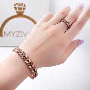 ست دستبند و انگشتر جنس مسی کد ۳۰۰7