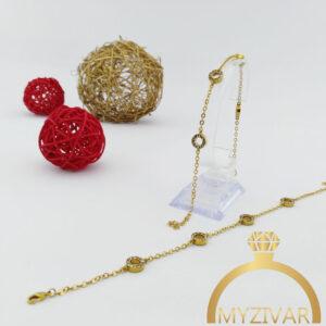 دستبند استیل زنجیری طرح طلا کد ۱۳۰۴3