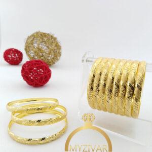 النگوی برنجی طرح طلا کد 1026