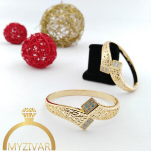 دستبند طرح طلا مارک ژوپینگ کد 13046