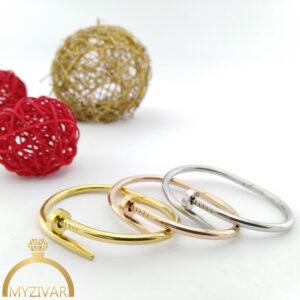 دستبند میخی طرح طلا کد 13045