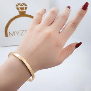 دستبند آینه ای طرح طلا مارک ژوپینگ کد 13050
